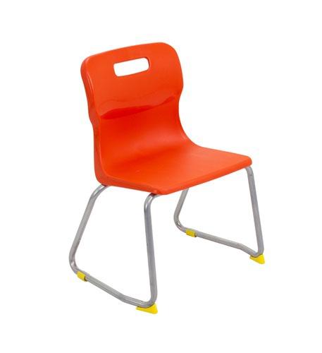 Titan Skid Base Chair Size 3 - 350mm Seat Height - Orange