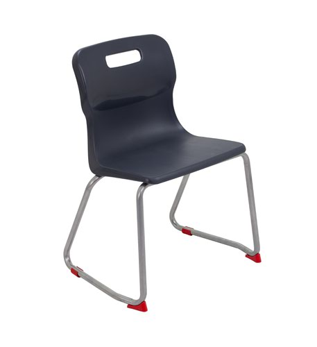 Titan Skid Base Chair Size 4 - 380mm Seat Height - Charcoal