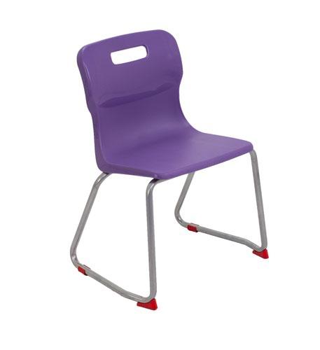 Titan Skid Base Chair Size 4 - 380mm Seat Height - Purple