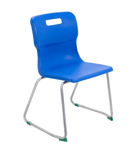 Titan Skid Base Chair Size 5 - 430mm Seat Height - Blue