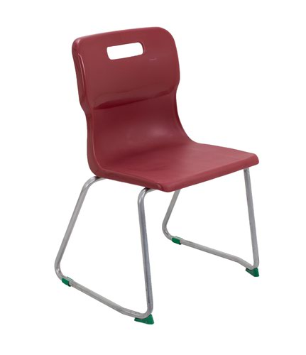 Titan Skid Base Chair Size 5 - 430mm Seat Height - Burgundy