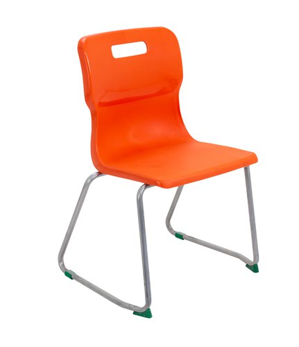 Titan Skid Base Chair Size 5 - 430mm Seat Height - Orange