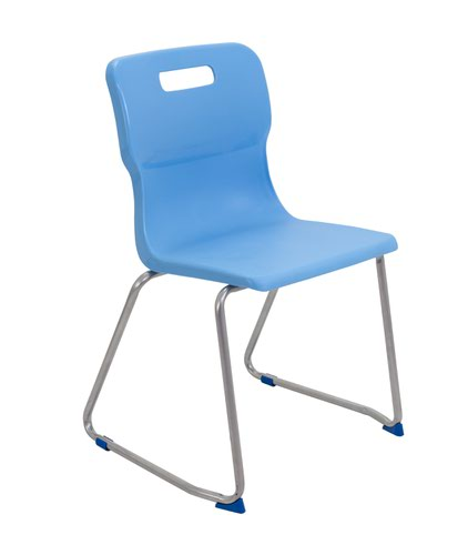 Titan Skid Base Chair Size 6 - 460mm Seat Height - Sky Blue