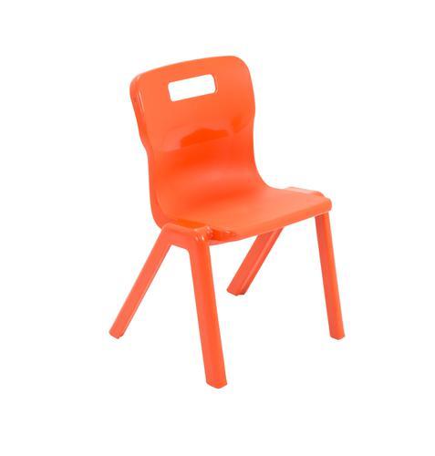 Titan One Piece School Chair Size 2 Orange KF78511