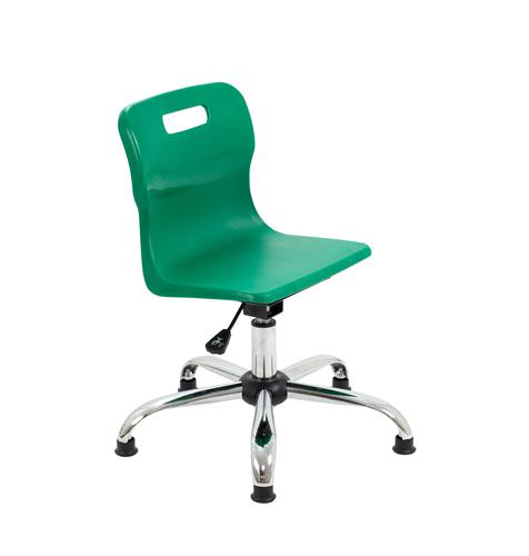 Titan Swivel Junior Chair - 365-435mm Seat Height - Green With Glides