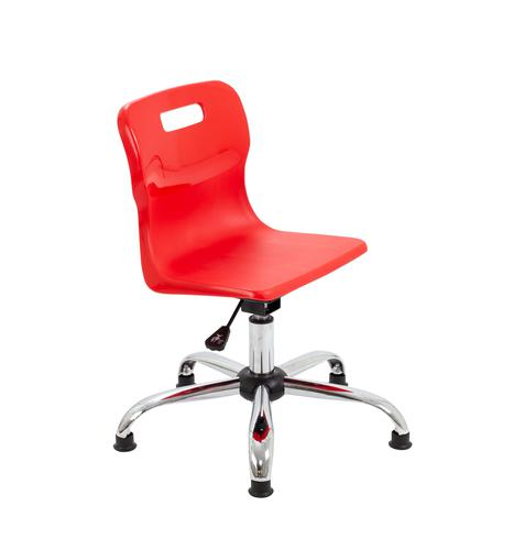 Titan Swivel Junior Chair - 365-435mm Seat Height - Red With Glides