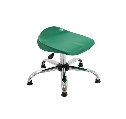 Titan Swivel Junior Stool - 405-475mm Seat Height - Green With Glides
