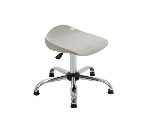 Titan Swivel Senior Stool - 465-555mm Seat Height - Grey With Glides