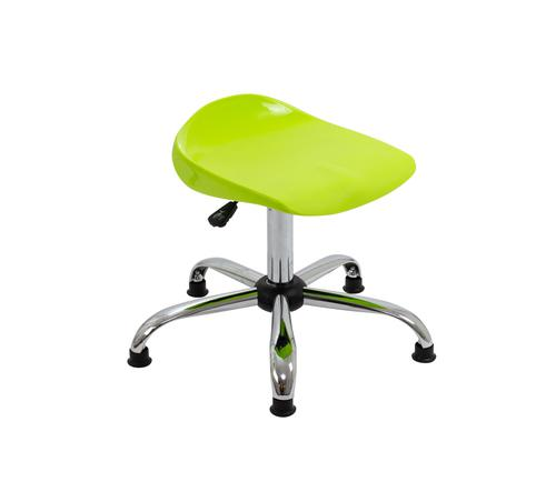 Titan Swivel Senior Stool - 465-555mm Seat Height - Lime With Glides