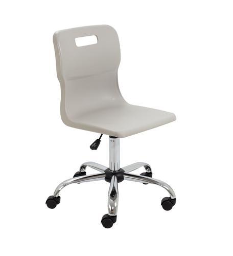 Titan Swivel Senior Chair - 435-525mm Seat Height - Grey With Castors