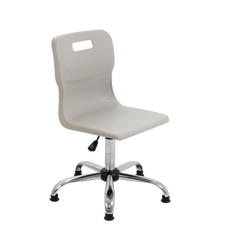Titan Swivel Senior Chair - 435-525mm Seat Height - Grey With Glides