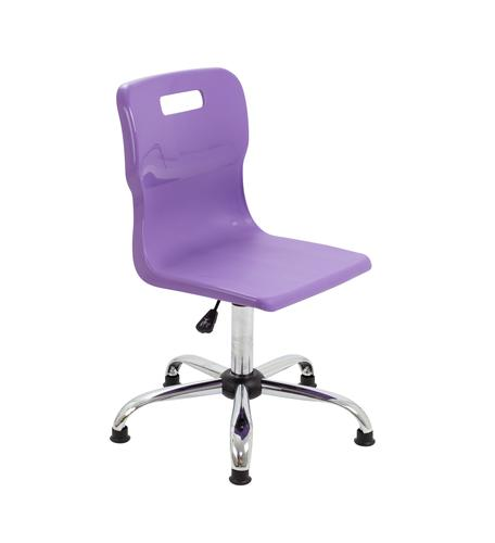 Titan Swivel Senior Chair - 435-525mm Seat Height - Purple With Glides
