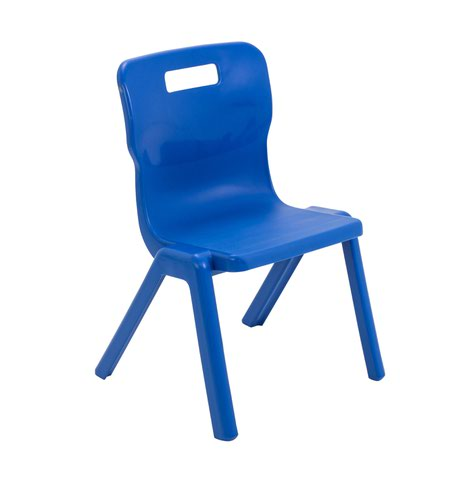 Titan Antibacterial One Piece Chair Size 3 - Blue