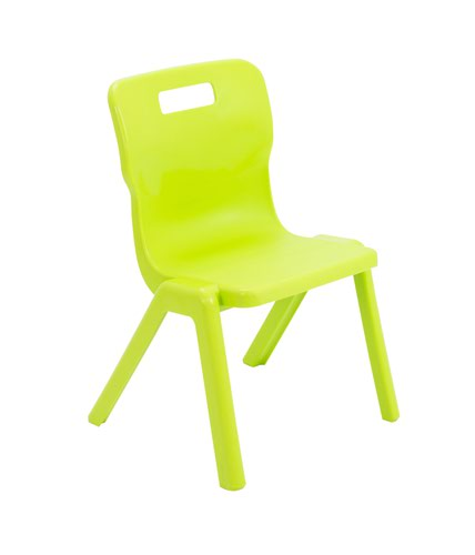 Titan One Piece Chair 350mm Lime (Pack of 30) KF78616