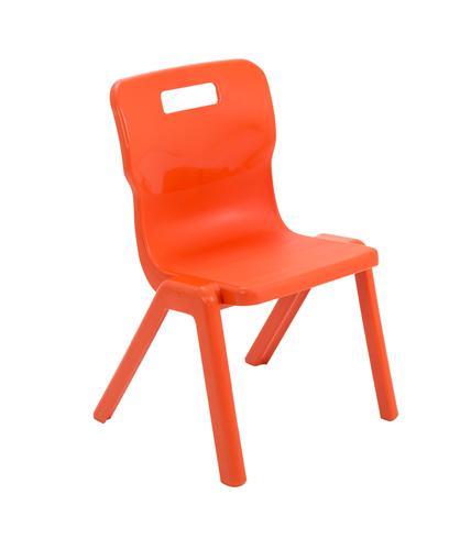 Titan One Piece Chair 350mm Orange (Pack of 30) KF78614