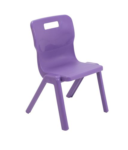 Titan One Piece Chair 350mm Purple (Pack of 10) KF78555