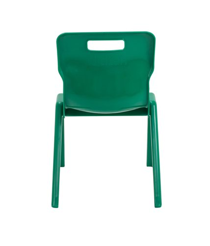 Size 4 for Ages 8-9 Years Titan One Piece Classroom Chair Plastic Green