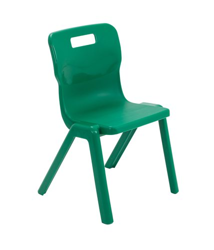 Titan One Piece Chair 380mm Green KF72166