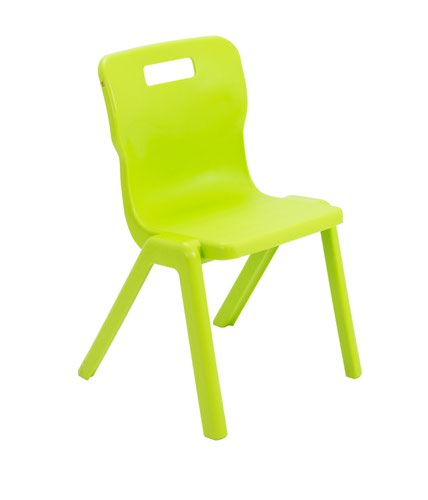 Titan One Piece Chair 380mm Lime (Pack of 10) KF78567