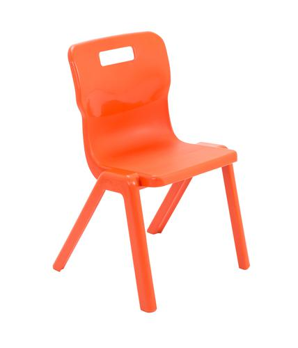 Titan One Piece Chair Size 4 - 380mm Seat Height - Orange