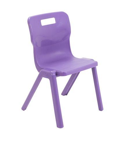 Titan One Piece Chair 380mm Purple KF78518
