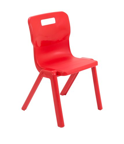 Titan One Piece Chair 380mm Red KF72164