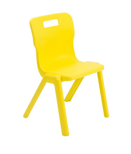 Titan One Piece Chair 380mm Yellow KF72168