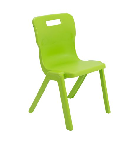 Titan One Piece Classroom Chair 480x486x799mm Lime (Pack of 30) KF78634