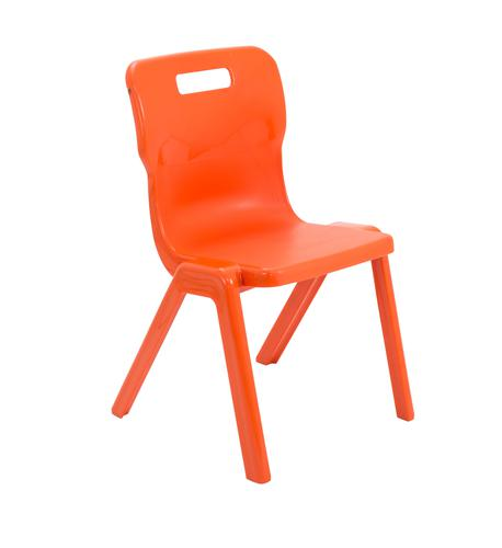 Titan One Piece Chair 430mm Orange (Pack of 10) KF78574