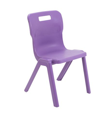 Titan One Piece Chair 430mm Purple KF78522