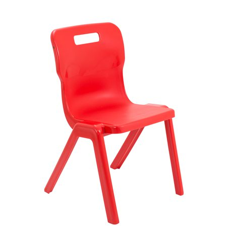Titan One Piece Chair 430mm Red KF72169