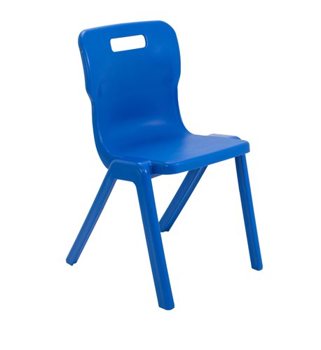 Titan One Piece Chair 460mm Blue KF72175