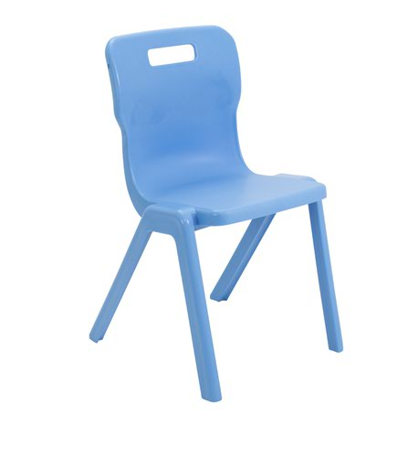 Titan One Piece Chair Size 6 - 460mm Seat Height - Sky Blue