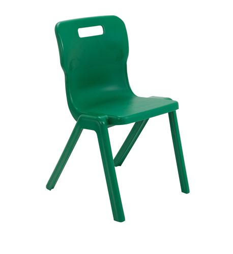 Titan One Piece Chair 460mm Green KF72176