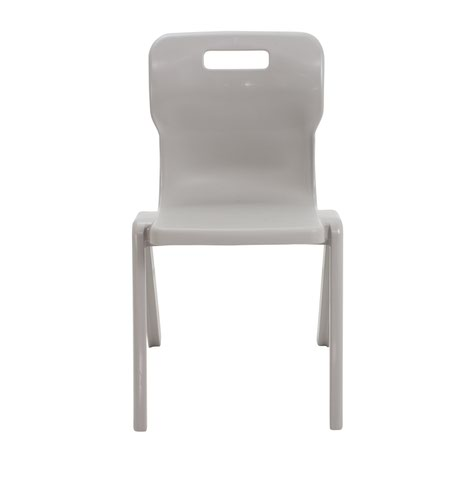 Titan One Piece School Chair Size 6 Grey (All in one plastic construction) KF78534