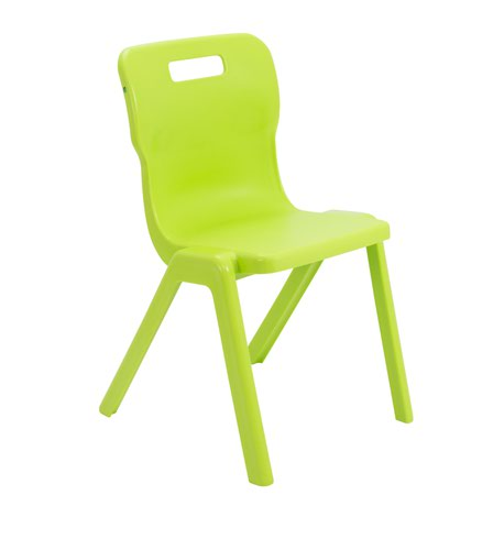 Titan One Piece Chair 460mm Lime KF78531
