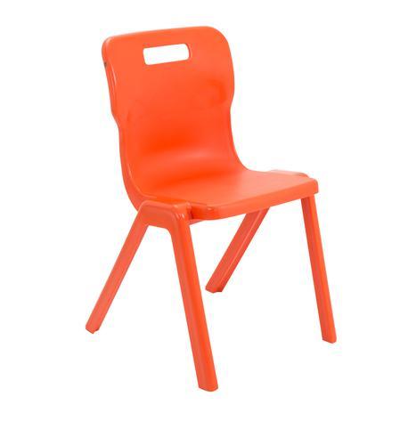 Titan One Piece Chair 460mm Orange KF78530