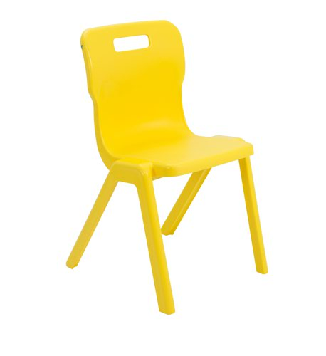Titan One Piece Chair 460mm Yellow KF72178