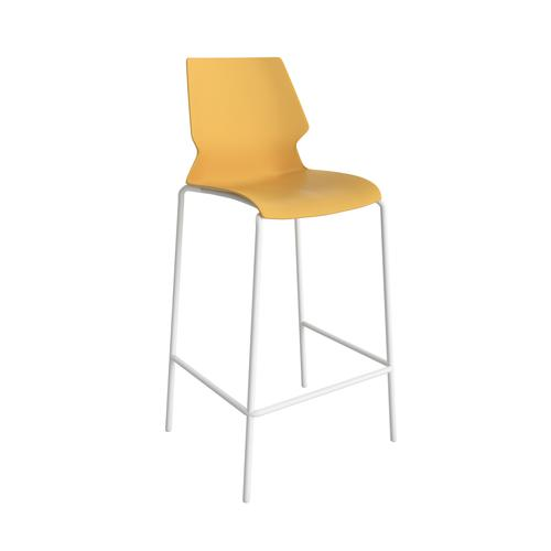 Titan Uni High Chair - White Frame / Yellow Seat