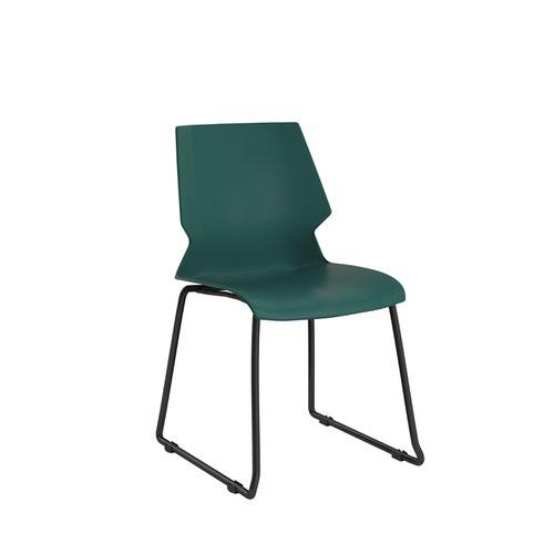 Titan Uni Skid Chair - Grey Frame / Green Seat