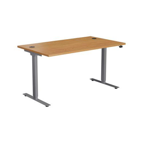 E Desk KD 1400 X 800 Nova Oak-Silver