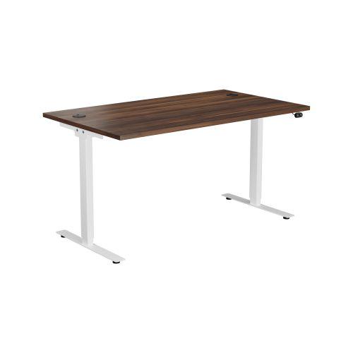 E Desk KD 1400 X 800 Dark Walnut-White
