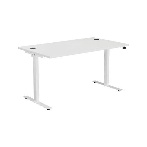 E Desk KD 1600 X 800 White-White