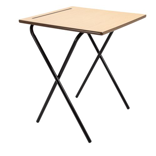 600 x 600 Folding Exam Desk 2 Pack - Premium