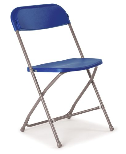 Flat Back Folding Chairs - Blue