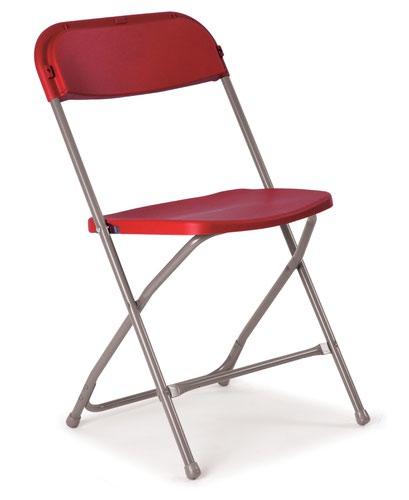 Flat Back Folding Chairs - Burgundy