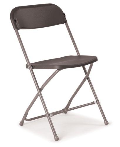 Flat Back Folding Chairs - Charcoal