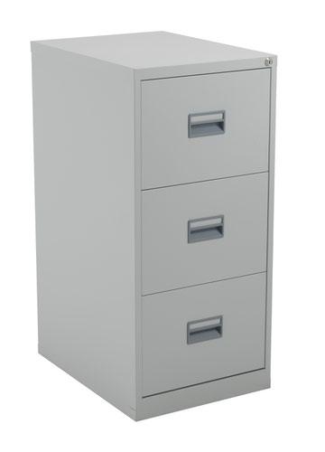 TC Steel 3 Drawer Filing Cabinet Grey