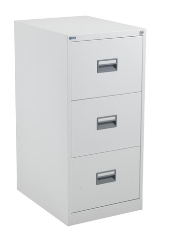 TC Steel 3 Drawer Filing Cabinet White