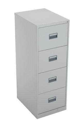 TC Steel 4 Drawer Filing Cabinet Grey